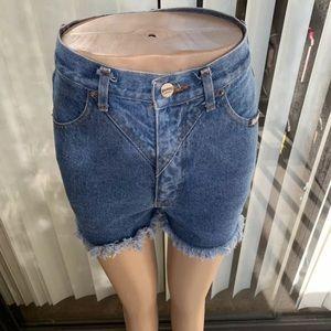 RoughRider High Rise cutoff Jean shorts